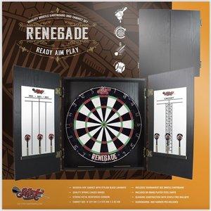 Renegade Dartbord Cabinet set